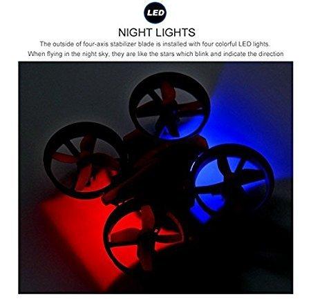 EACHINE E010 Mini UFO Quadcopter Drone 2.4G 4CH 6 Axis Headless Mode Remote Control Nano Quadcopter RTF Mode 2 (Green)