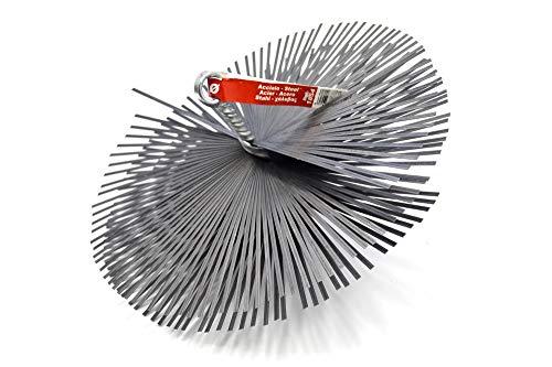 PYRO FEU 862601 Cabezal Deshollinador acero 200 mm rosca métrica 12, Gris, Redondo