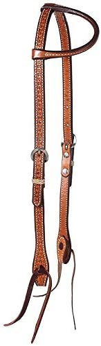 NRS Running W Tooled Single Ear Popular standard Bit San Diego Mall Ends Headstall with Tie