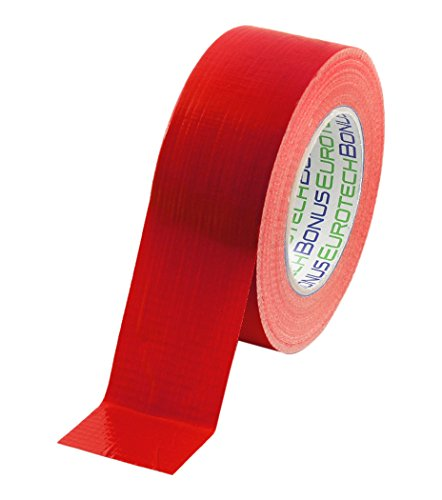 BONUS Eurotech 1BC12.77.0050/050A# Standard Duct Tape, Klebstoff auf Synthetikkautschuk Basis, LDPE Folie eines PET Gewebes, Länge 50 m x Breite 50 mm x Dicke 0,17 mm, Rot