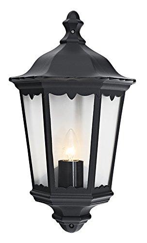 Traditionele zwart gegoten aluminium buitenlantaarn wandlamp