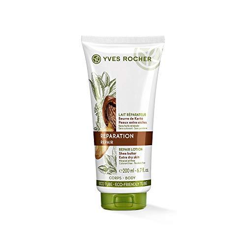 Yves Rocher PFLANZENPFLEGE KÖRPER Repair-Körpermilch, reichhaltige Body Milk mit Karitébutter, für trockene Haut, 1 x Tube 200 ml