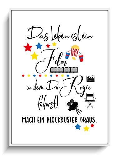 Kunstdruck Modern DIN A4 Druck Film & Regie Plakat ohne Rahmen Geschenkidee Geburtstag Weihnachten Lieblingsmensch Motivation Spruch Design Lustig