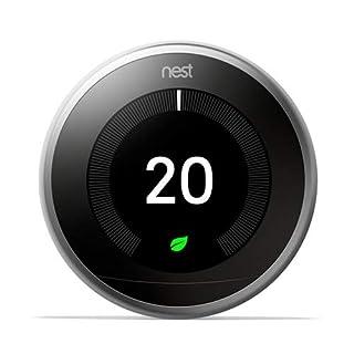 Nest Termostato 3A generazione, Acciaio Inossidabile (B01N7MAAWF) | Amazon price tracker / tracking, Amazon price history charts, Amazon price watches, Amazon price drop alerts