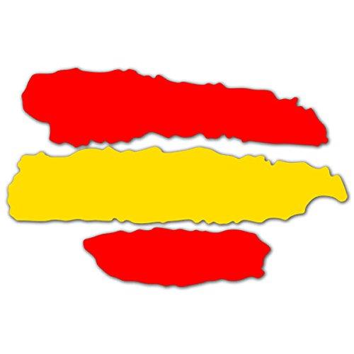 2 unds Pegatina vinilo adhesivo bandera España para cascos coches motos ciclomotores bicicletas de OPEN BUY