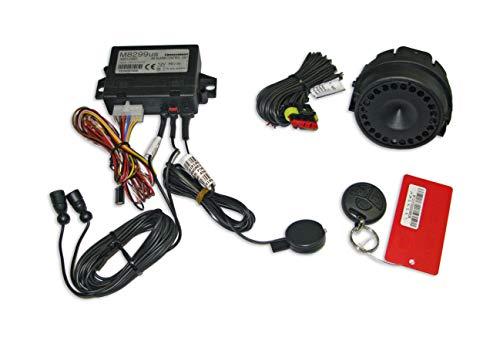Fiat Panda y Panda Hybrid - Alarma antirrobo con mando a distancia y sirena para puertas del capó del motor y compartimento del maletero original 50290162