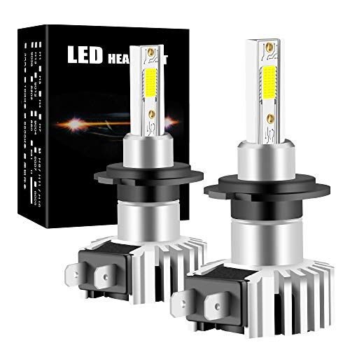 yifengshun H7 Lampadine per Faro a LED per Auto COB Chip Headlight Bulbs for Automobile Xenon Bianco 6500K 12000LM 60W Kit di conversione ad alta luminosità
