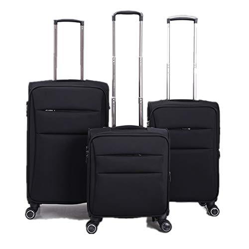 El equipaje de mano extensible Spinner equipaje de Equipaje de tres piezas...