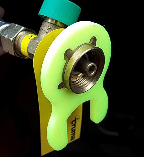 Gasschlüssel für Gasregler Druckminderer 5kg 11kg Wohnmobil Caravan Garten Grill Gasgrill (Neon Gelb)