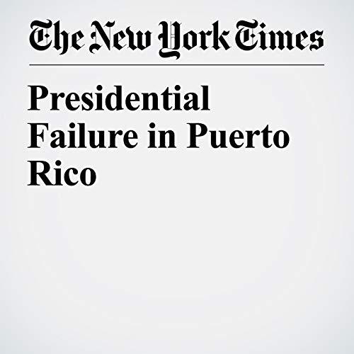 Presidential Failure in Puerto Rico copertina