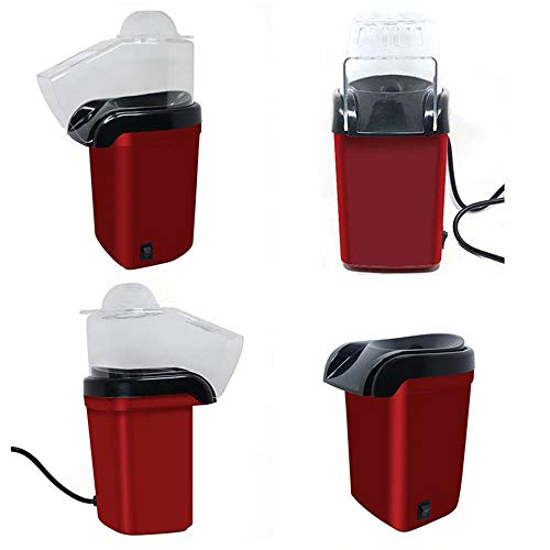 New LJTT Household Electric Popcorn Maker Machine Automatic Red Corn Popper Natural Popcorn Healthy ...