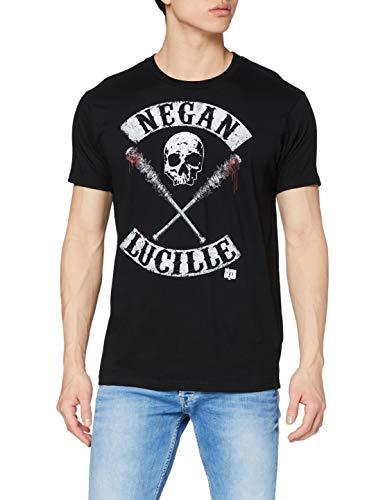 Walking dead Herren T-Shirt Negan Lucille Rockers, Schwarz, L