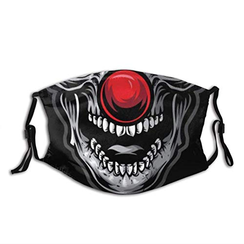 Horror Clown Unisex Earloop Dust-Proof Face Cover Balaclava Mouth Cover Washable Reusable Filter
