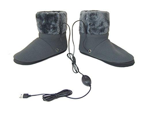 ObboMed MF-2305M USB 5V 10W wärmende Heizschuhe mt Karbon Heizelementen, mit weicher Sohle, M: bis Schuhgröße 40, wärmende Hausschuhe, Wärmepolster, Fußwärmer, Aufwärmung Kalter Füße