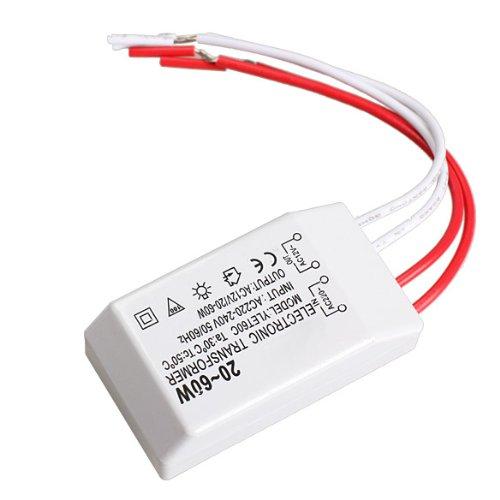 Preisvergleich Produktbild Tenflyer Neu 20-60W 12V Halogen Licht LED Elektronisch Transformator Lampen-Trafo