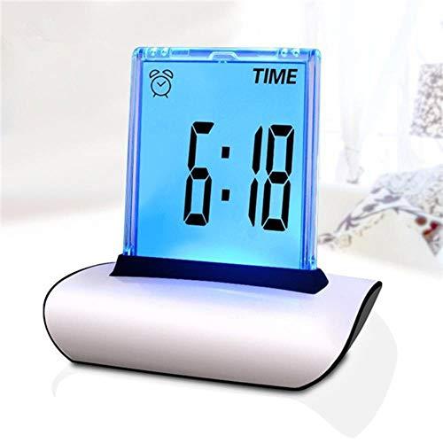 SKDHGFKAJSHJFKDHJK Digitale luiertafel, LCD-scherm, wekker, multifunctionele grote display bureauklok met thermometer-kalender