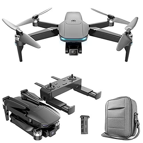 Drone Fotocamera 4K per Adulti - 1/2/3 batterie - Drone 5G FPV Pieghevole con Doppia Fotocamera RC Quarcopter con Motore brushless Facile da Usare