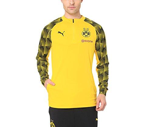 PUMA Herren BVB Stadium 1/4 Zip Top Sweatjacke, Cyber Yellow, L