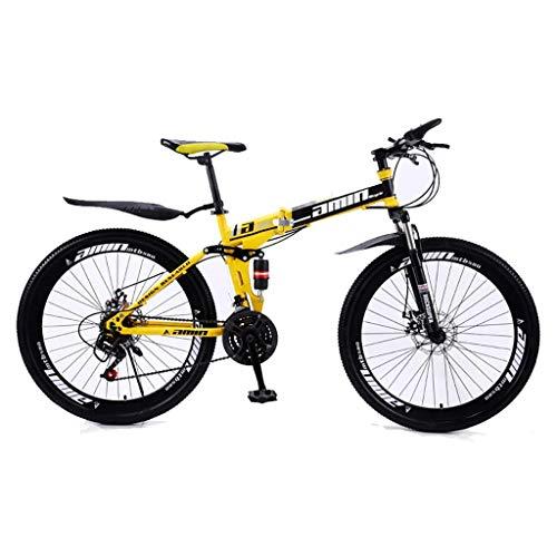 Bicicleta De Montaña Plegable para Hombres Y Mujeres Adultos, Bicicleta De Montaña Deportiva, MTB con Cambio De 21/24/27/30 Etapas, 26 Pulgadas,30 Speed