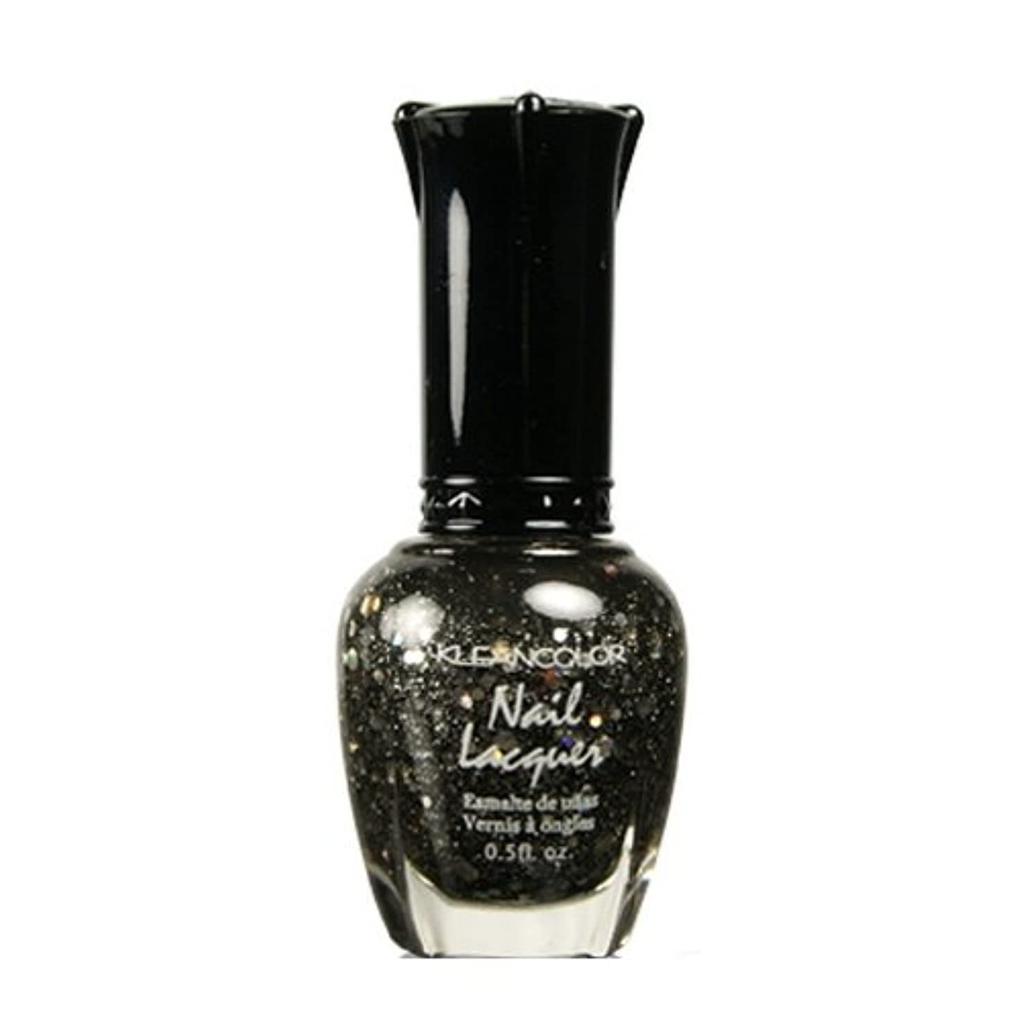 夫婦リーガン辞任(6 Pack) KLEANCOLOR Nail Lacquer 4 - Black Out (並行輸入品)