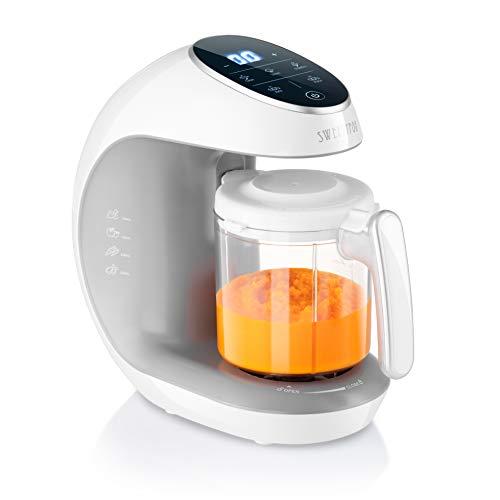 Sweety Fox - Multifunktions Babynahrungszubereiter 7-in-1 - Dampfgarer, Mixer, Pulse, Automatische Reinigungsfunktion, Flaschen Sterilisator, Gläschenwärmer, Auftaufunktion - Breikocher Multifunktion
