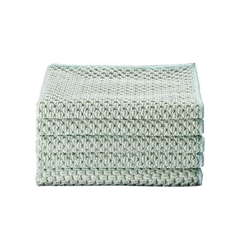 Paño de limpieza de toalla de cocina verde para ventana de vidrio de coche trapos de piso tazón plato de cerámica azulejo limpie plumero herramienta de limpieza del hogar Gadget 5 piezas