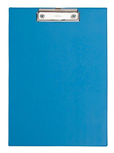 Maul 23352345 Schreibplatte Folienüberzug, Klemmbrett A4 Hoch, Blau ( Hell Blau), 1 Stück