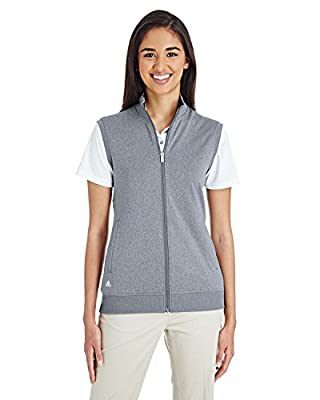adidas Golf Womens Full-Zip Club Vest (A272) -Vista Grey -L
