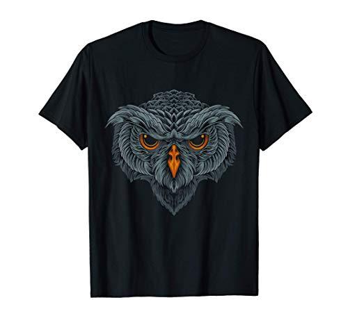 Disfraz de Pájaro Cara de Búho Camiseta