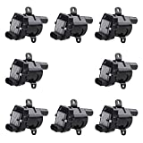 JDMON Compatible with Ignition Coil Pack Chevy GMC Silverado Sierra Suburban Yukon Replaces 12563293 D585 C1251 19005218 UF262 Pack of 8