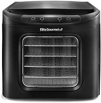 Elite Gourmet Adjustable Temperature Controls Food Dehydrator