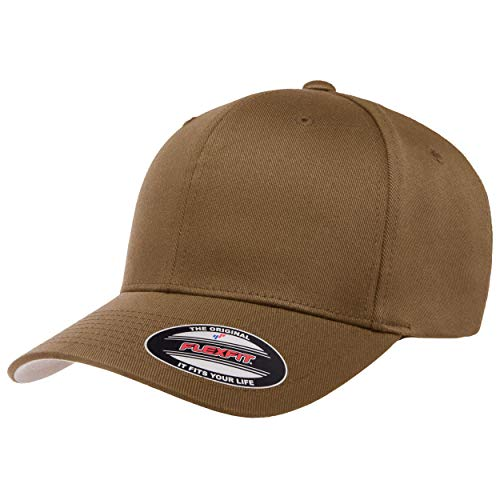 Flexfit Herren Men's Athletic Baseball Fitted Cap Kappe, Coyote Brown, L/XL
