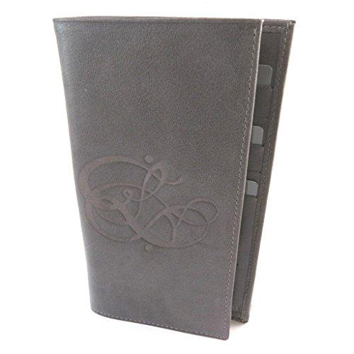 Les Trésors De Lily Les Trésors De Lily [N8922] - Halter prickelnde Leder scheckbuch 'Les Trésors De Lily' rauchgrau - 19x11 cm.
