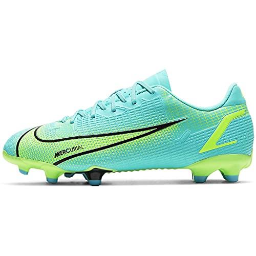 Nike JR Vapor 14 Academy FG/MG, Zapatillas de fútbol, Dynamic Turq Lime Glow, 35 EU