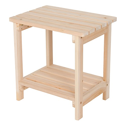 Shine Company Inc. 4104N Rectangular Side Table, Natural Cedar Outdoor Coffee Table