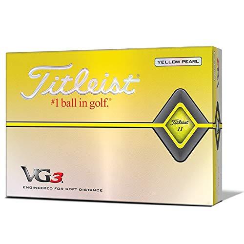 タイトリスト(TITLEIST) VG3 ゴルフボール イエローパール T3126S