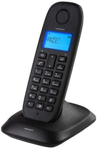 Topcom TE-5730 - Teléfono DECT inalámbrico, Color Negro