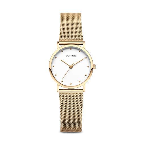 BERING Reloj Analógico para Mujer de Cuarzo con Correa en Acero Inoxidable 13426-334