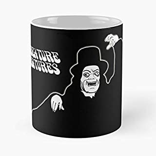 Creature Feature Features Wgn Midwest -the Funny Coffee Mugs Novelty Halloween Gifts Ceramic Cup For Halloween, Holiday, Christmas Party Decoration 11 Ounce - White Davidfin.