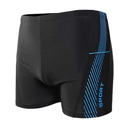 Xmiral Badehose Herren Seite Gedruckte Elastisch Taille Boxer Schnelltrocknend Strandhosen Kurze Hosen Verstellbarem Surf Shorts Badeshorts(b Blau,XXL)