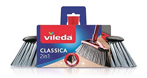 Vileda Classica 2-in-1 kamerbezem - ideaal voor de opname van stof en haren