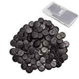 300pcs Black Buckle Plastic Button Accessories, 3 Sizes Premium Buttons, Suitable for Jibbitz Back Piece, Shoe Charm for Kids, Wristband Jewelry, Factory DIY Jewelry by SEWPASAM (10mm/12mm/13mm)