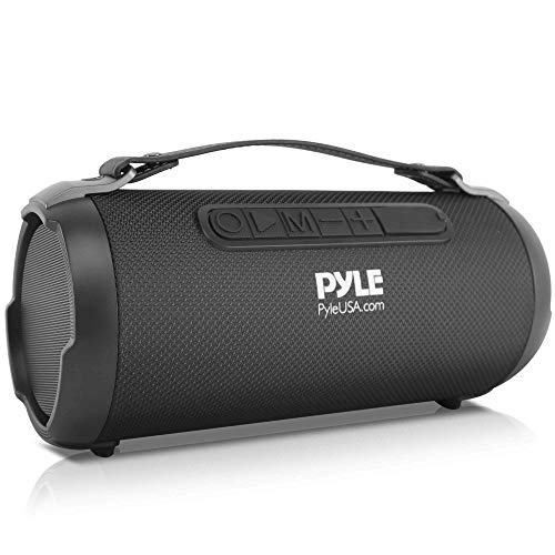 """Wireless Portable Bluetooth Boombox Speaker - 200 Watt Rechargeable Boom Box Speaker Portable Music Barrel Loud Stereo System with AUX Input, MP3/USB/SD Port, Fm Radio, 4"""" Tweeter - Pyle PBMSPG1BK"""