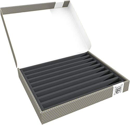 Feldherr Lagerbox FSLB040 kompatibel mit Modelleisenbahnen, Loks und Fahrzeuge - 9 Stege kompatibel mit Spur N stehend