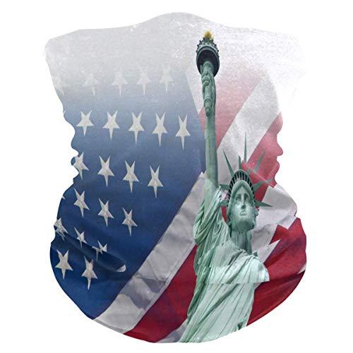 16-in-1 bandana, het vrijheidsbeeld met gezichtsbescherming voor de motor, voor de hals van de vlag, schattige haarbanden voor motorrijden, vissen, skiën