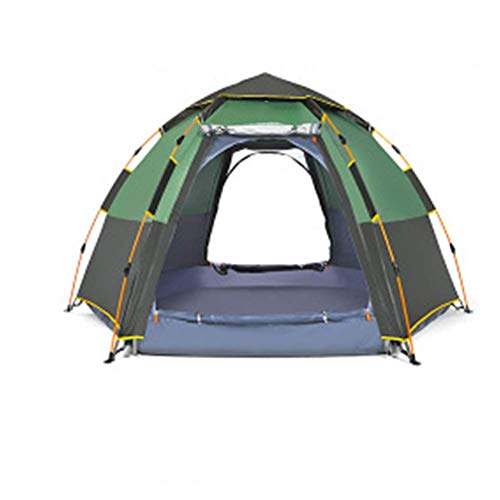 COOLLL Outdoor Tent, Automatic Pop Up Tent, Windproof Tent, Camping Tents for Family 5-8 Person, Ultralight Backpacking Tent for Hiking Camping Outdoor, Waterproof Double Layer Dome Tent,Gre