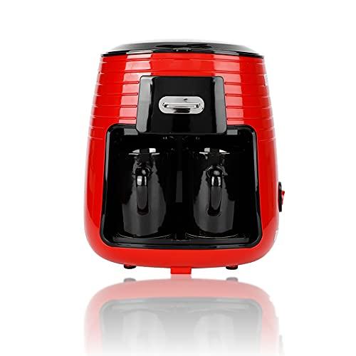 Cafetera de 0,25 l, cafetera de goteo de doble taza completamente automática, máquina para hervir té, funcionamiento con una sola tecla, para el hogar, la oficina, el hotel(ENCHUFE DE LA UE)