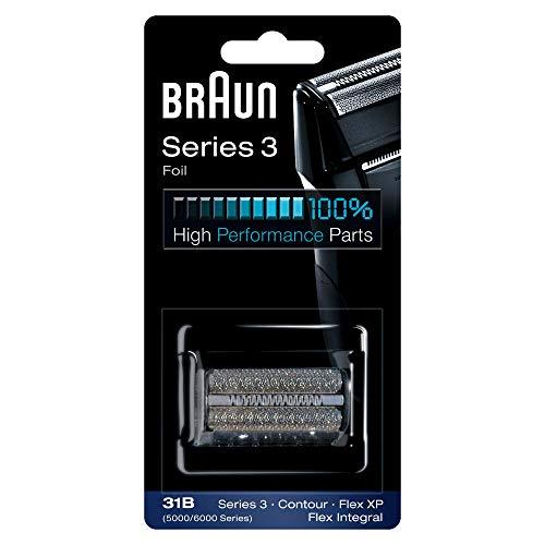 Braun Elektrorasierer Ersatzscherteil 31B, kompatibel mit Series 3 Rasierern, schwarz