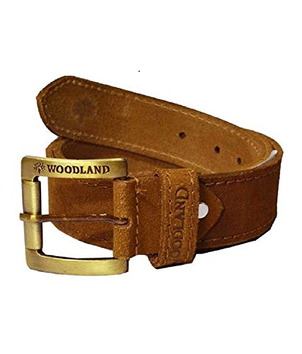 Woodland Men's Leather Belt (Camel, 34)