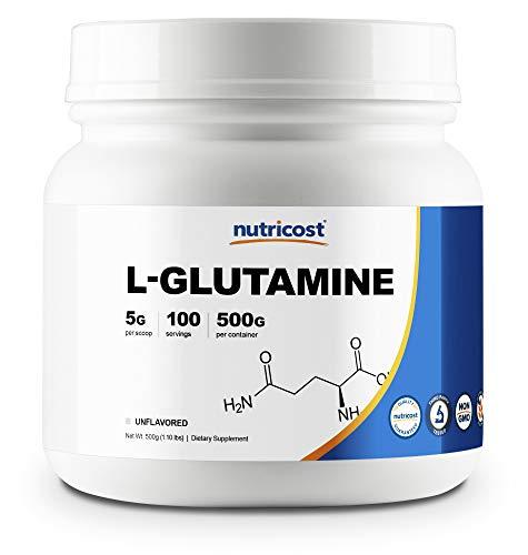 Nutricost L-Glutamine Powder (500 Grams) Unflavored - Gluten Free & Non-GMO